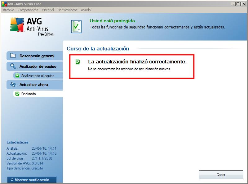 Actualización AVG 03