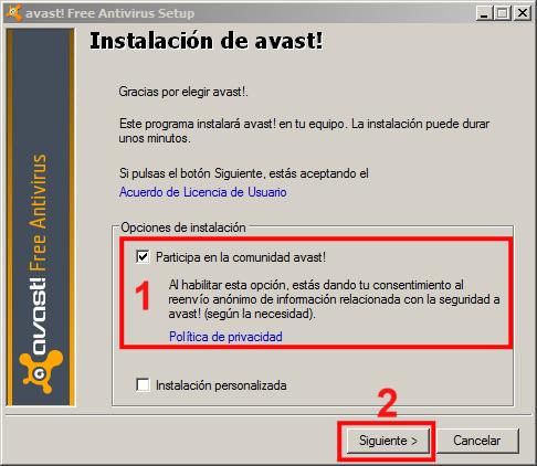 Instalación Avast 02